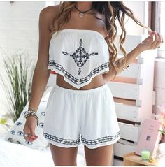 Cute two piece romper