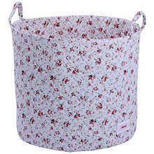 Buy Minene Large Flowers Storage Bag, Blue Online at johnlewis.com Pretty Wardrobe baskets for underwear