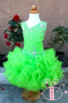 Beautiful Pageant glitz cupcake pageant dress toddler or girl Baby Pageant Dresses, Pagent Dresses, Princess Tutu Dresses, Glitz Pageant, Pageant Wear, Beauty Pageant, Toddler Pageant, Toddler Dress, Little Girl Dresses