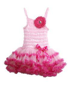 Another great find on #zulily! Light Pink Ruffle Lace Tutu Dress - Toddler & Girls #zulilyfinds