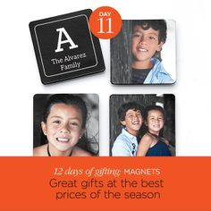 Today's gift: Memories that stick. Save 50% on magnets, plus get an extra 20% off with code SALEONSALE. Ends tonight, Dec 11.