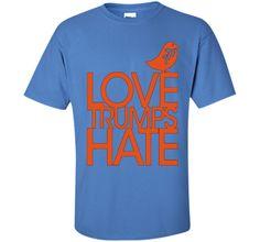 Love Trumps Hate Anti Donald Trump T Shirt