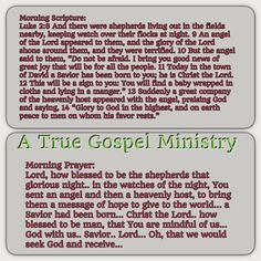 Morning Scripture and Prayer... #christmas #savior #atruegospelministry