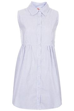 **Stripe Sleeveless Panelled Shirt Dress by Annie Greenabelle - Dresses - Clothing - Topshop