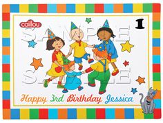 4 Caillou Edible Cake Topper by ItsEdible on Etsy, $8.99