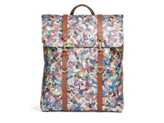 M/S Backpack – Painter's Camo/Cuoio