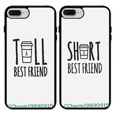 Tall&Short Best Friend BFF Rubber Case For iPhone 6 7 8 X&Samsung Galaxy. phone cases from our store and get up to off. You will not find this rare cases in any other store, so grab this Limited Time Discount Now! Bff Iphone Cases, Bff Cases, Funny Phone Cases, Diy Phone Cases, Phone Cases Samsung, Best Friend Cases, Friends Phone Case, Best Friend Things, Best Friend Texts