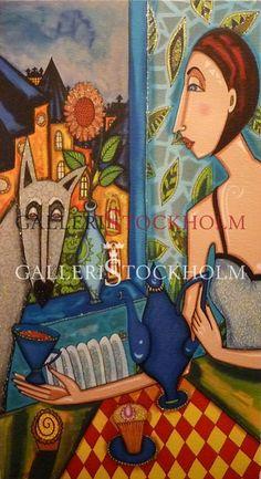 Angelica Wiik - Litografi - Vargtass Köp direkt online på galleristockholm.se