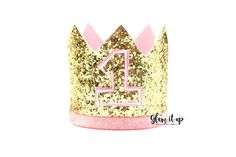 First Birthday Hat-first birthday crown-First by Glamitupsupply