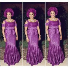 Aso Ebi Styles : Blouse and Skirt http://www.dezangozone.com/2016/08/aso-ebi-styles-blouse-and-skirt.html