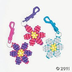 Beaded flower keychain
