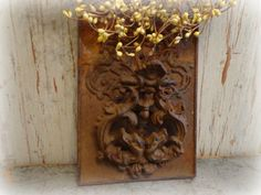 vintage cast iron door knocker with ornate back by AntiqueShopGirl, $75.00