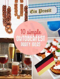 10 simple Oktoberfest party ideas / Polkadot Stationery