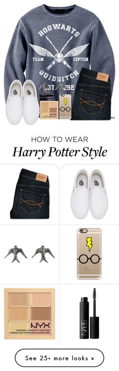 """Alwaysϟ"" by tori-ayleen13 on Polyvore featuring Abercrombie & Fitch, Casetify, Vans, Blackbird and the Snow and NARS Cosmetics"