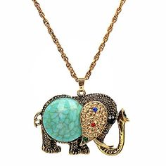 Yiwa Womens Elephant Shape Pendant Sweater Chain Necklace -- To view further for this item, visit the image link.