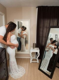 He is a photographer and was lucky enough to work with a couple who was 8 days away from having a baby.