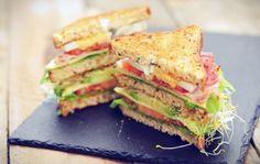 Glutenvrije club sandwich van Schär brood