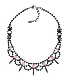 JOOMI LIM Let Them Eat Cake Black and Rose Crystal with Spikes Necklace #Necklace #accessories