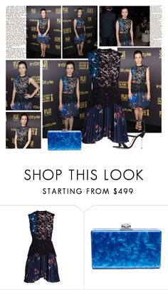 """""""2016 HFPA & InStyle Celebrate the 2017 Golden Globe Awards Season~ Linda Cardellini"""" by snugget9530 ❤ liked on Polyvore featuring self-portrait and Sophia Webster"""