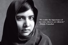 We realize the importance of our voice when we are silenced