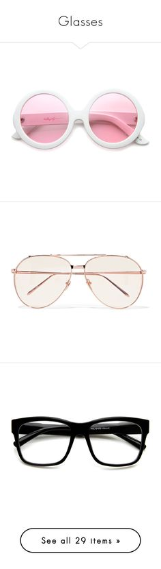 """""""Glasses"""" by xo-nikita ❤ liked on Polyvore featuring accessories, eyewear, sunglasses, glasses, pink, round lens glasses, oversized sunglasses, mod sunglasses, rounded sunglasses and retro round sunglasses"""