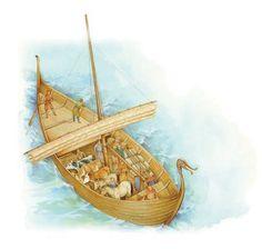 A Viking cargo ship, known as a knarr