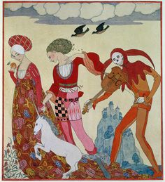 Love Desire And Death Painting by Georges Barbier