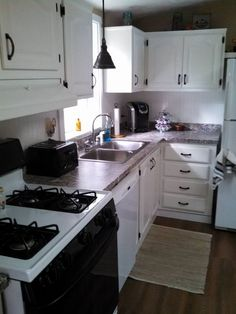 painting my kitchen counter tops to look like granite , countertops, how to, kitchen design, painting, After Picture