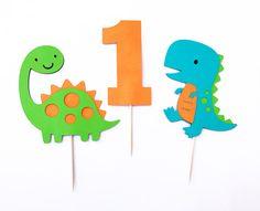 Dinosaur Cupcake Toppers / Dinosaur Party / Birthday Party / Dinosaur Themed Decorations / Dino / Dinomite / First Birthday Cupcake Toppers Dinosaur First Birthday, First Birthday Cupcakes, Baby Boy 1st Birthday, First Birthday Parties, First Birthdays, Dinosaur Cupcake Toppers, Dinosaur Party Decorations, Baby Shower, Etsy