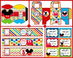 Mickey Mouse Party Printable Mickey Clubhouse by blueangeldigitals