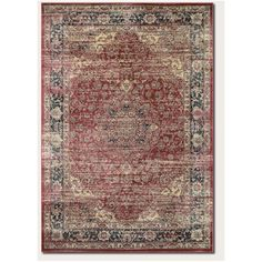 Larimore Red/Black Area Rug