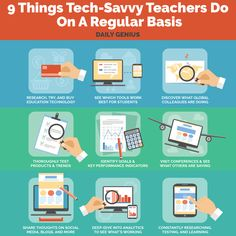 The 9 Things Tech-Savvy Teachers Do On A Regular Basis shows how edtech teachers are looking for new ways to innovate and deploy new learning strategies. Instructional Technology, Educational Technology, Teaching Technology, Instructional Strategies, Instructional Design, Teaching Chemistry, 21st Century Learning, Flipped Classroom, Little Bit