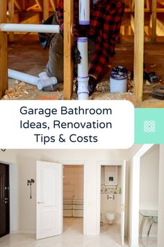 Adding a bathroom to a garage is not easy. Here's some garage bathroom ideas and pointers to help you get started. Bathroom Makeovers On A Budget, Bathroom Renovation Cost, Garage Renovation, Garage Remodel, Garage Makeover, Diy Bathroom Remodel, Budget Bathroom, Bathroom Ideas, Add A Bathroom