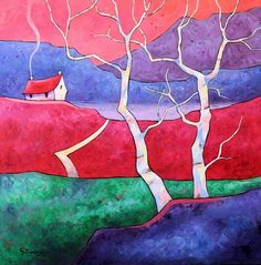Birch Tree Cottage by Gillian Mowbray