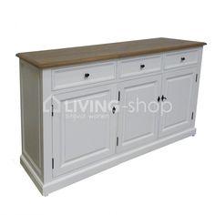 Buffetkast Camille 3 deuren wit Castle-Line landelijke meubels #landelijke #meubelen #CastleLine @ www.LIVING-shop.eu Cabinet, Storage, Furniture, Home Decor, Clothes Stand, Purse Storage, Decoration Home, Room Decor, Closet
