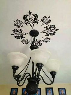 Love this ceiling idea! #inspirewendy #uppercaseliving #damask