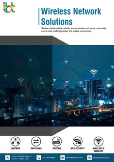 Wireless solutions deliver reliable, simple, seamless and secure connectivity even in most challenging indoor and outdoor environments. Innovation Strategy, Web Security, I Wan, Network Solutions, Dubai Uae, Connection, Environment, Indoor, Magazine