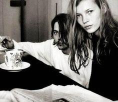 Kate Moss en Johny Depp