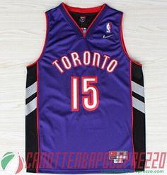 canotte nba poco prezzo Toronto Raptors porpora # 15 Carter