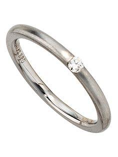 Platin Ring besetzt mit Diamant - B: 2,50 mm Größe: 56: Amazon.de: Schmuck