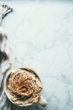 ... salted almond butter coconut whip #recipe #vegan