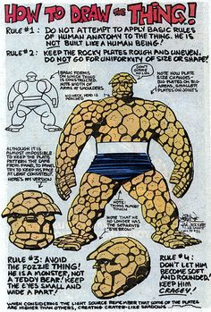 How to Draw The Thing via Universal Dork