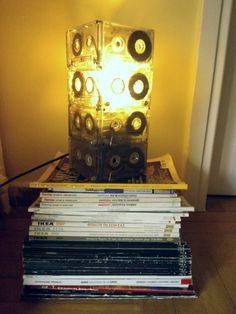 make from old cassettes a new lamp!