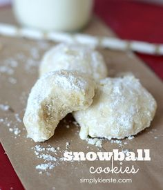 Rich and buttery, these classic Snowball Cookies are the perfect addition to your holiday baking! Use Earth Balance to veganize.