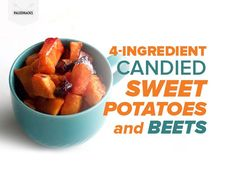 Candied sweet potatoes and beets: curbs your sweet tooth and fights inflammation at the same time Beet Recipes, Clean Recipes, Fall Recipes, Real Food Recipes, Cooking Recipes, Veggie Recipes, Vegetarian Recipes, Vegetarian Side Dishes, Vegetable Side Dishes