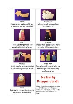 Printable Nativity Character Prayer Cards