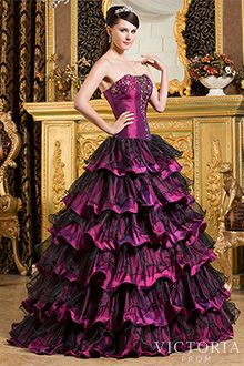 Gothic prom dresses corset long sparkly