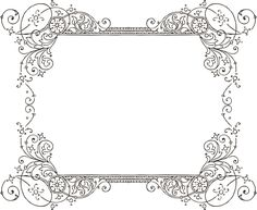 decorative backgrounds for word documents | More Free Clipart - Vintage Frames Borders & Ornaments - StarSunflower ...