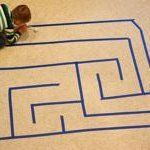 Painter's Tape Maze