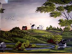 Boston Mural Painters, New England Historical Preservation, Primitive Muralist: Lisa M. Nelthropp